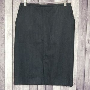 Club Monaco black chambray pencil skirt